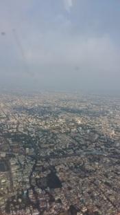 Chennai from the skies - Phew !
